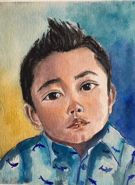 Kid very expressive eyes